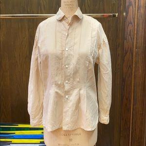 Ralph Lauren Vintage Tan Linen Blouse Size 8